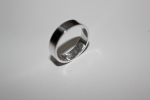 Wedding Band: sterling silver with fingerprint