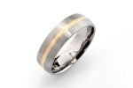 Men's Wedding Band: palladium and 14K yellow gold